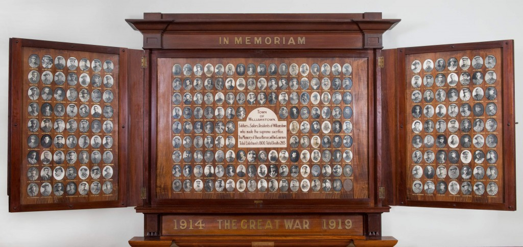Cropped Williamstown Town Hall Honour Board Open